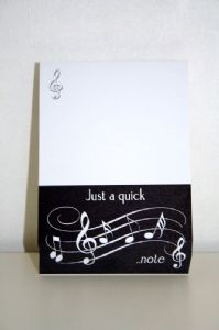 Musical Themed Block Note Pads 'Just a Quick Note'